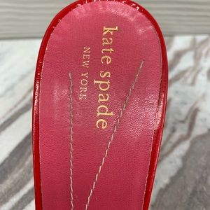 kate spade Shoes - KATE SPADE NY RED Patent Open Toe Mule Heel Shoes
